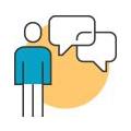 고객불만 및 요청사항 분석, 조치계획 통보 아이콘 이미지